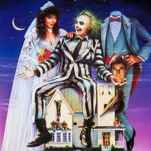Beetlejuice Halloween Costume Striped b&w